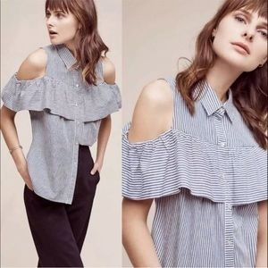 Anthro Sunday In Brooklyn Scilla Cold Shoulder Top